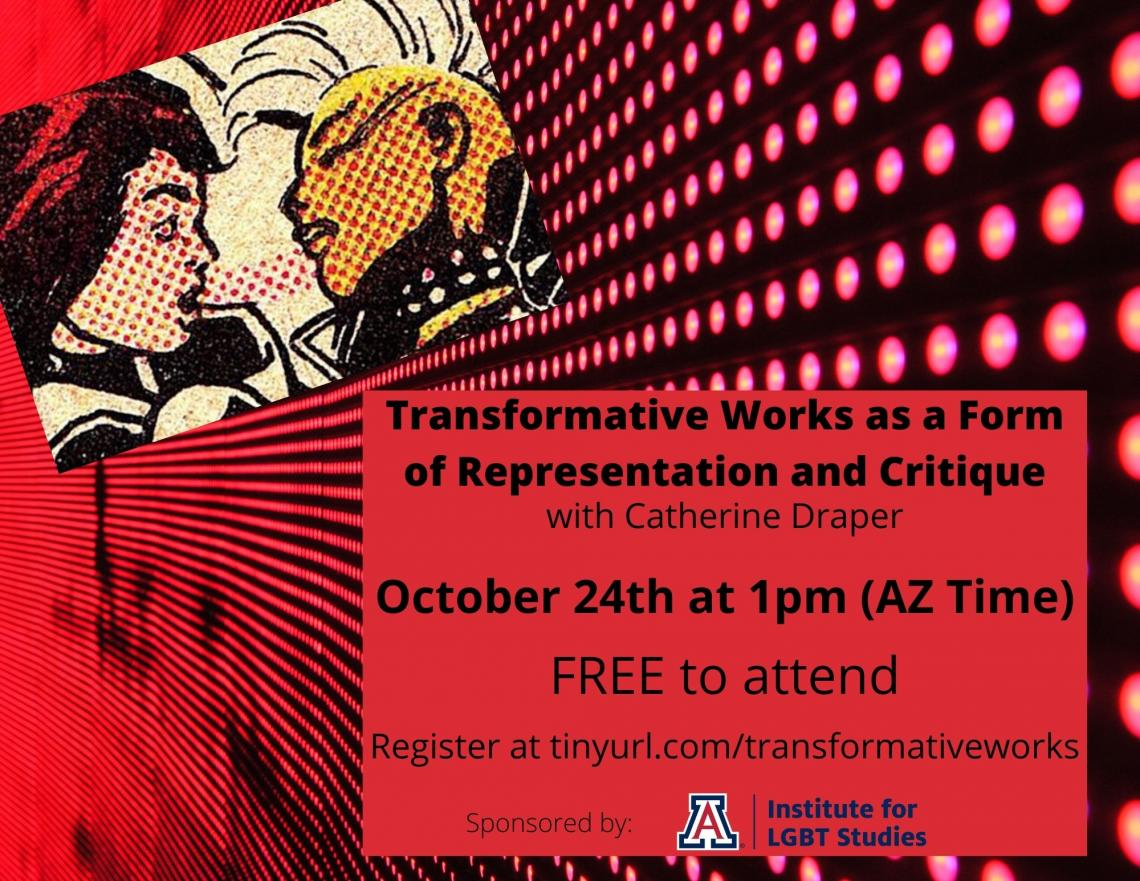 Transformative Works as a Form of Representation and Critique Flier Image. Two people.